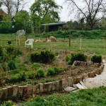 Aanleg tegelrand Labyrint 2007