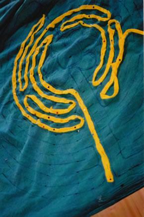 labirint op stof naaien